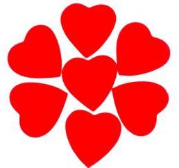 Конфетти сердце Красное 100гр