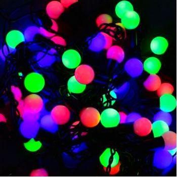 Светодиодная LED гирлянда 40 led 6м разноцветная Ø16мм оптом и в розницу