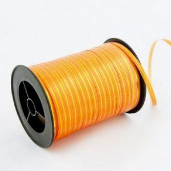 Лента Оранжевая с золотой полосой 250ярд