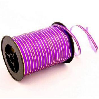 Лента Фиолетовая с золотой полосой 250ярд