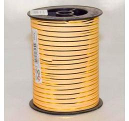 Лента Персиковая с золотой полосой 250ярд