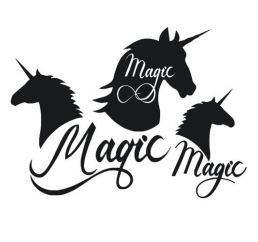 Наклейки ЕДИНОРОГ MAGIC