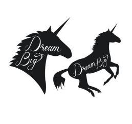 Наклейки ЕДИНОРОГ BIG DREAM