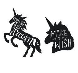 Наклейки ЕДИНОРОГ FOLLOW YOUR DREAM