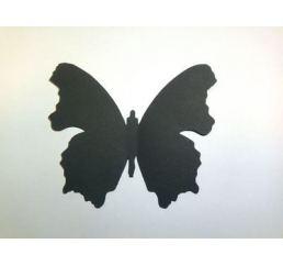 Бабочка 12см ЧЕРНАЯ