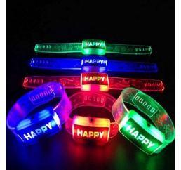 Светящийся браслет HAPPY