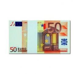 Пачка Сувенирных денег 50€ Евро