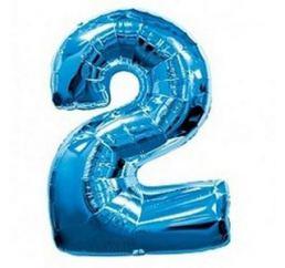 Цифра 2 Синяя ФМ 102см