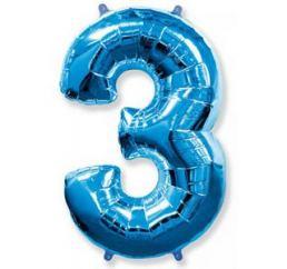 Цифра 3 Синяя ФМ 102см