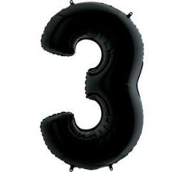 Цифра 3 Черная G 102см