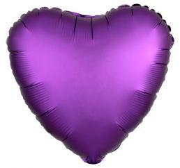 18'' Сердце САТИН Фиолетовое АН