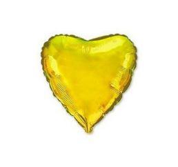 Шар Сердце 22см Золотое ФМ