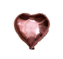 Шар Сердце 22см Розовое золото К