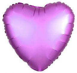 18'' Сердце Сиреневое САТИН К