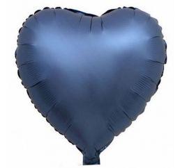 18'' Сердце Синее САТИН К