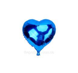 Шар Сердце 12см Синее К
