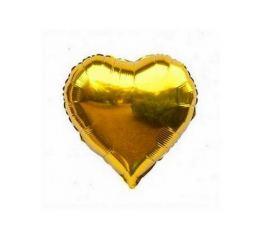 Шар Сердце 22см Золотое К