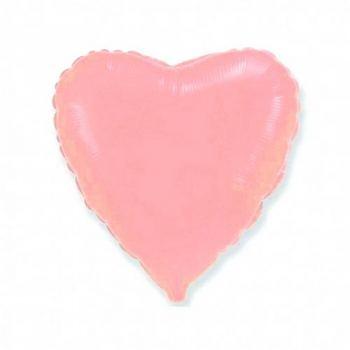 18'' Сердце Розовое пудровое К