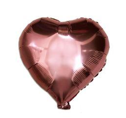 18'' Сердце Розовое золото К