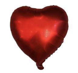 18'' Сердце Красное САТИН К