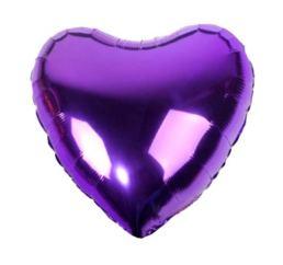 Шар Сердце 45см Фиолетовое К