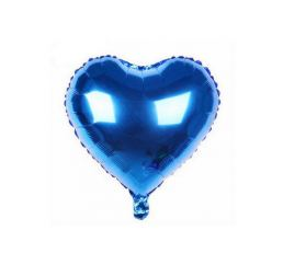 Шар Сердце 22см Синее К
