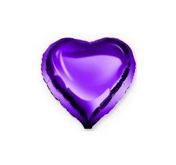 Шар Сердце 22см Фиолетовое К