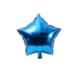 Шар Звезда 22см Синяя К