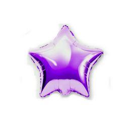 Шар Звезда 22см Лиловая К