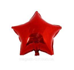 Шар Звезда 22см Красная К