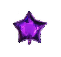 Шар Звезда 22см Фиолетовая К