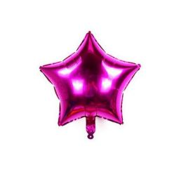 Шар Звезда 22см Малиновая К
