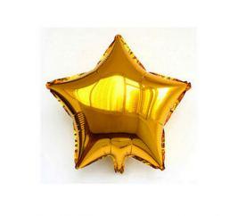 Шар Звезда 22см Золотая К