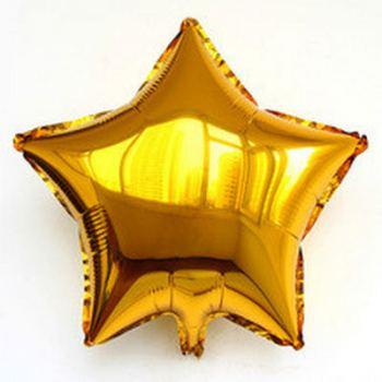 Шар Звезда 45см Золотая К