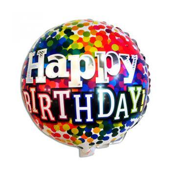 Фольгована кулька HAPPY BIRTHDAY КОНФЕТІ 45см