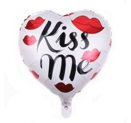 Шар сердце 45см KISS ME