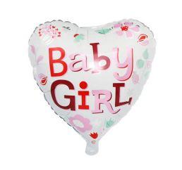 Шар Сердце Baby Girl 45см К