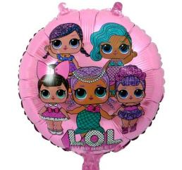 Круглый Шар Куклы LOL на розовом 45см К