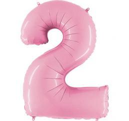 Цифра 2 Розовая G 102см