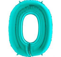 Мятная надувная цифра 0 размером 102см Grabo