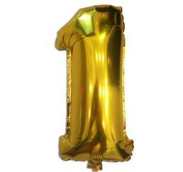 Цифра 1 Золото К 102см