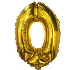 Надувная шарик-цифра 0 ЗОЛОТАЯ 102см К
