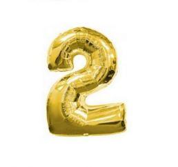 Цифра 2 Золото К 70см