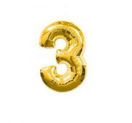 Цифра 3 Золото К 70см