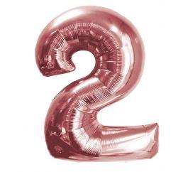 Цифра 2 Розовое Золото К 70см