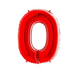 Цифра 0 Красная К 70см