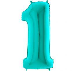 Мятная надувная цифра 1 размером 102см Grabo