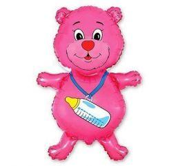 Мишка розовый с соской ФМ