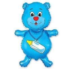 Мишка голубой с соской ФМ
