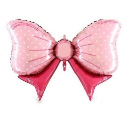 Бант розовый К